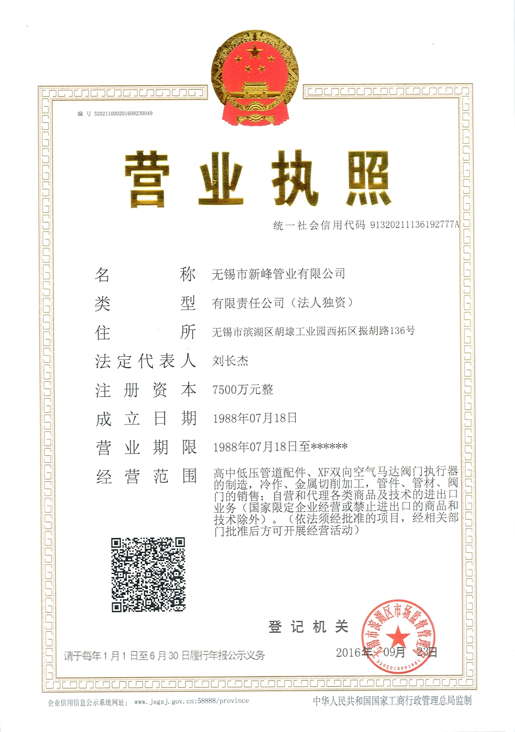 Business License(2016)